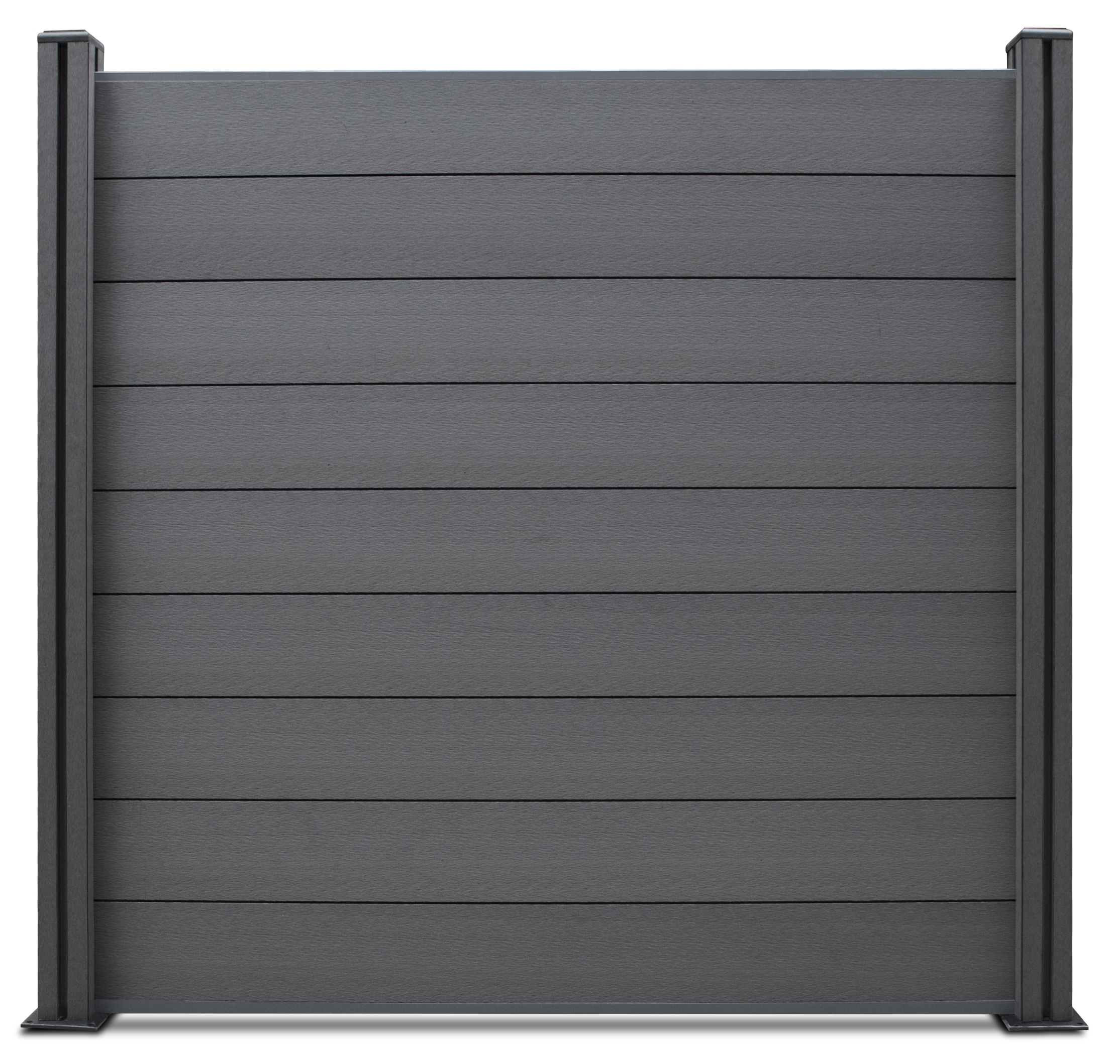 Wpc Sichtschutzzaun Edition Line Anthrazit Grau 6 Elemente 7