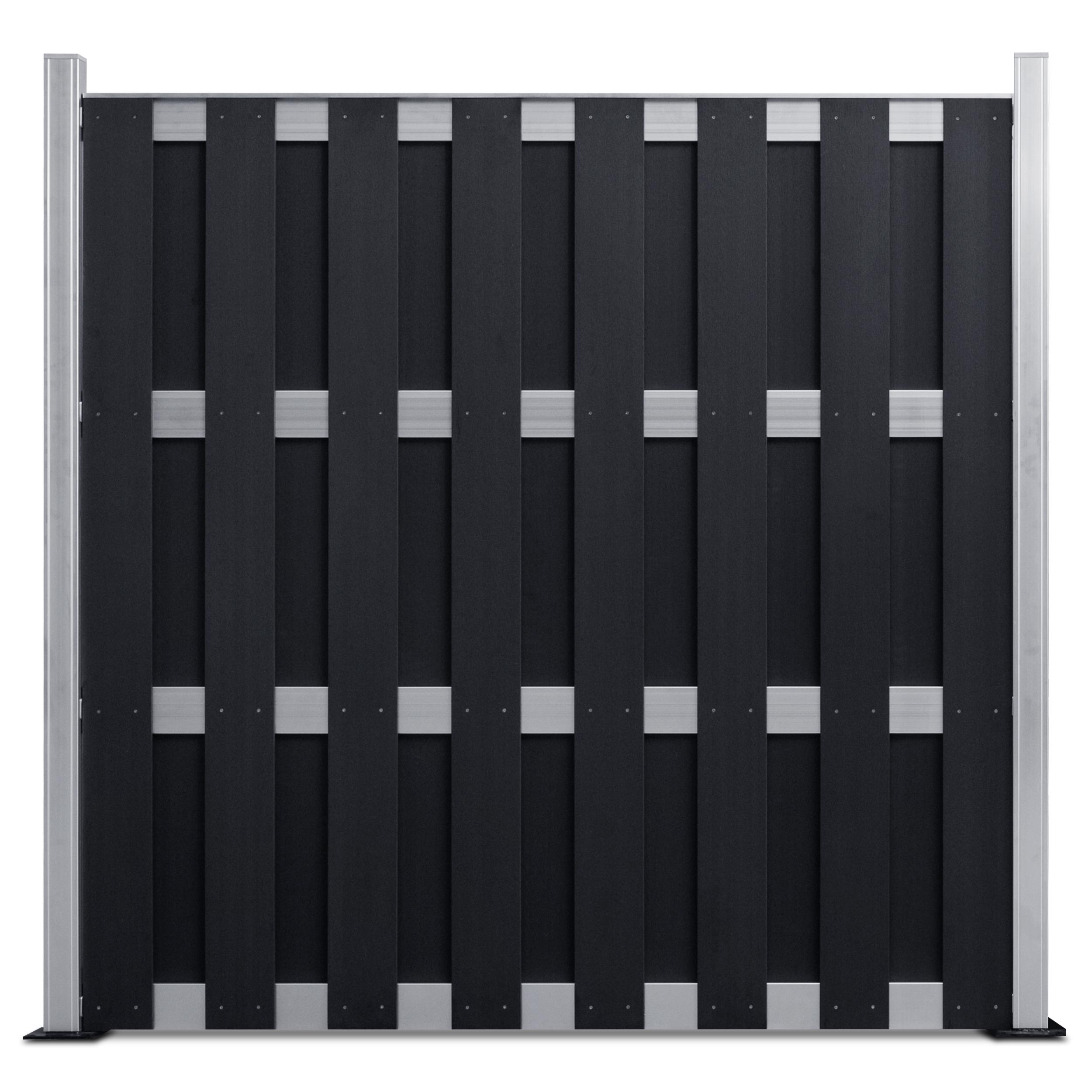 wpc sichtschutzzaun classic line komplettbausatz anthrazit silber. Black Bedroom Furniture Sets. Home Design Ideas