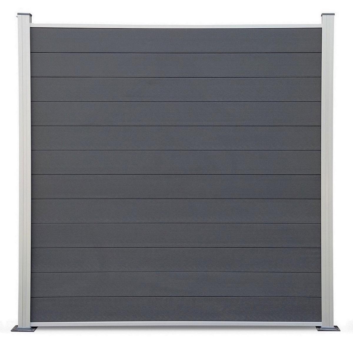 tomi wpc coex sichtschutzzaun premium line windschutz zaun anthrazit silber ebay. Black Bedroom Furniture Sets. Home Design Ideas