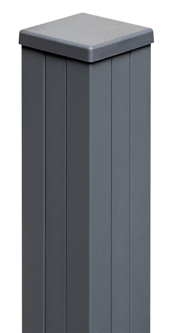 Premium Line / Plus Aluminium-Pfosten inkl. L-Winkel Anthrazit 190 cm